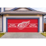 Detroit Red Wings Double Garage Door Cover