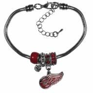 Detroit Red Wings Euro Bead Bracelet
