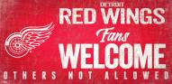 Detroit Red Wings Fans Welcome Sign