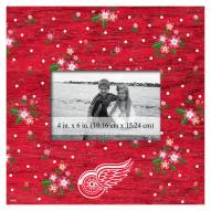 """Detroit Red Wings Floral 10"""" x 10"""" Picture Frame"""