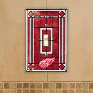 Detroit Red Wings Glass Single Light Switch Plate Cover