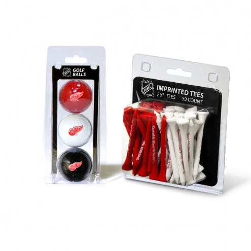 Detroit Red Wings Golf Ball & Tee Pack