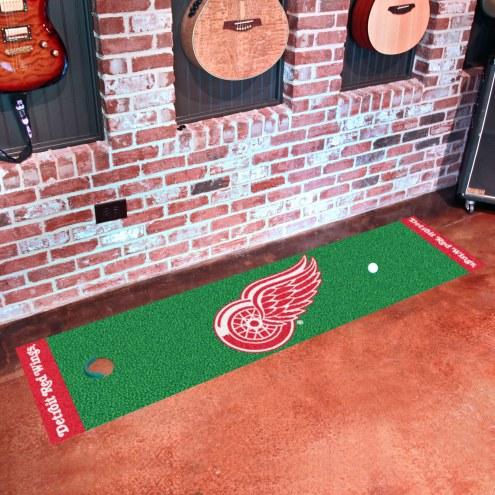 Detroit Red Wings Golf Putting Green Mat