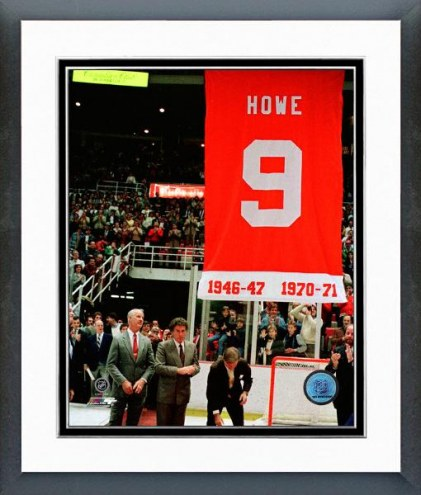 Detroit Red Wings Gordie Howe Jersey Retirement Ceremony Framed Photo
