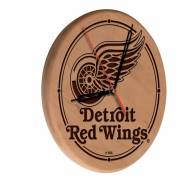 Detroit Red Wings Laser Engraved Wood Clock