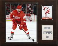"""Detroit Red Wings Henrik Zetterberg 12"""" x 15"""" Player Plaque"""