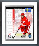 Detroit Red Wings Henrik Zetterberg Sweden Portrait Plus Framed Photo