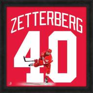 Detroit Red Wings Henrik Zetterberg Uniframe Framed Jersey Photo