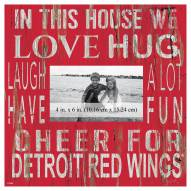 """Detroit Red Wings In This House 10"""" x 10"""" Picture Frame"""