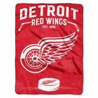 Detroit Red Wings Inspired Plush Raschel Blanket
