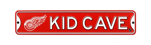 Detroit Red Wings Kid Cave Street Sign