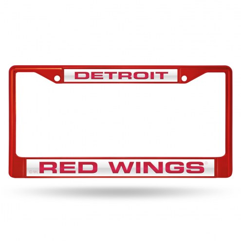 Detroit Red Wings Laser Colored Chrome License Plate Frame
