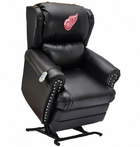 Detroit Red Wings Leather Coach Lift Recliner