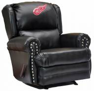 Detroit Red Wings Leather Coach Recliner