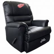 Detroit Red Wings Leather Sports Recliner