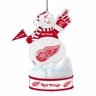 Detroit Red Wings LED Snowman Ornament