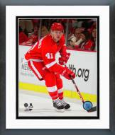 Detroit Red Wings Luke Glendening Action Framed Photo