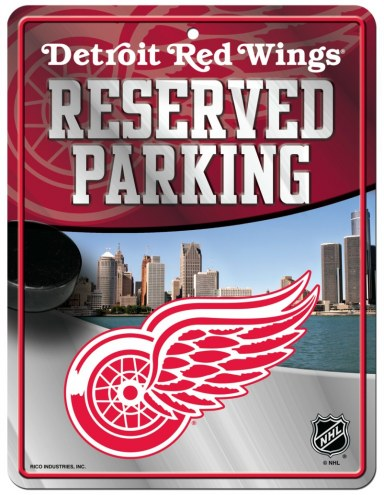 Detroit Red Wings Metal Parking Sign