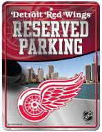 Detroit Red Wings Metal Parking Sign