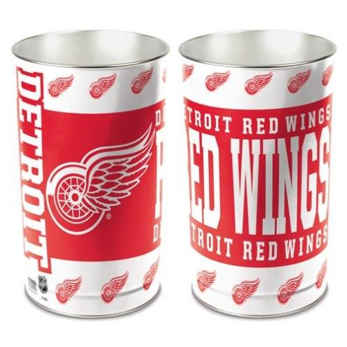 Detroit Red Wings Metal Wastebasket
