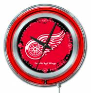 Detroit Red Wings Neon Clock