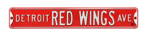 Detroit Red Wings NHL Authentic Street Sign