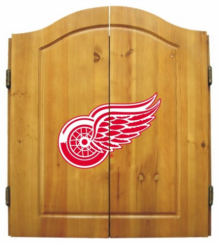 Detroit Red Wings NHL Complete Dart Board Cabinet Set