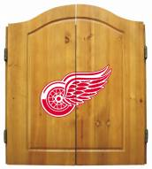 Detroit Red Wings NHL Complete Dart Board Cabinet Set