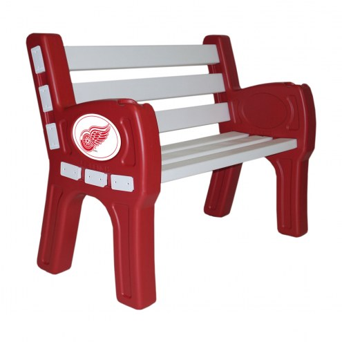 Detroit Red Wings Park Bench