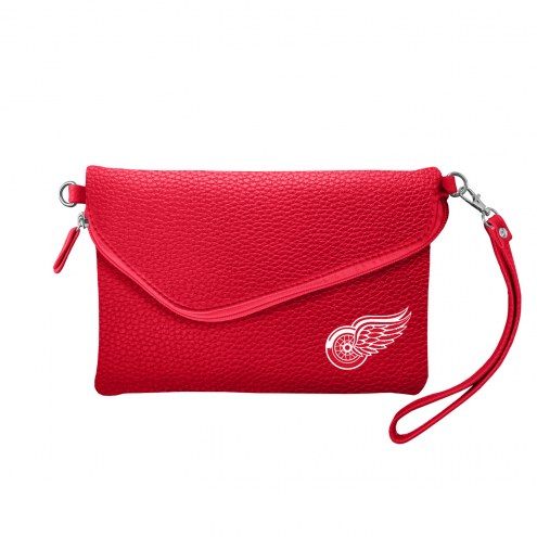 Detroit Red Wings Pebble Fold Over Purse