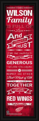 Detroit Red Wings Personalized Family Cheer Framed Art