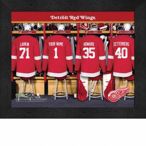 Detroit Red Wings Personalized 11 x 14 Framed Photograph