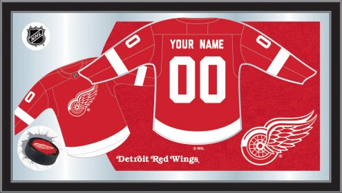 Detroit Red Wings Personalized Jersey Mirror