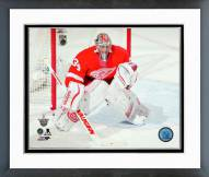 Detroit Red Wings Petr Mrazek 2014-15 Playoff Action Framed Photo