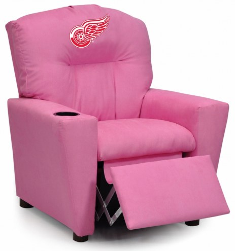 Detroit Red Wings Pink Kid's Recliner