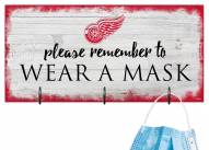 Detroit Red Wings Please Wear Your Mask Sign