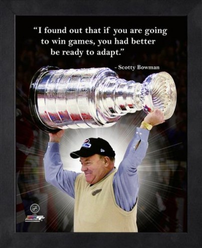 Detroit Red Wings Scotty Bowman Framed Pro Quote