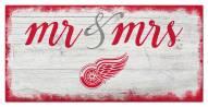 Detroit Red Wings Script Mr. & Mrs. Sign