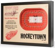 Detroit Red Wings 25-Layer StadiumViews 3D Wall Art