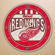 Detroit Red Wings Stained Glass Wall Clock