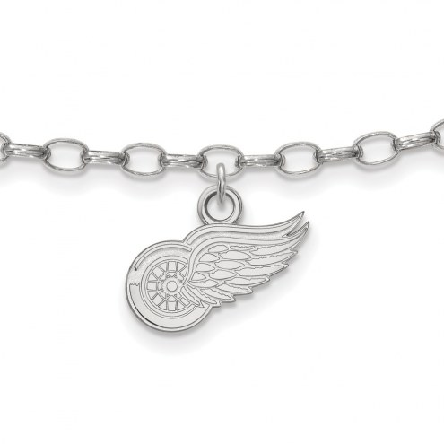 Detroit Red Wings Sterling Silver Anklet