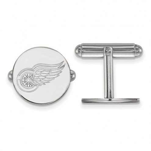 Detroit Red Wings Sterling Silver Cuff Links