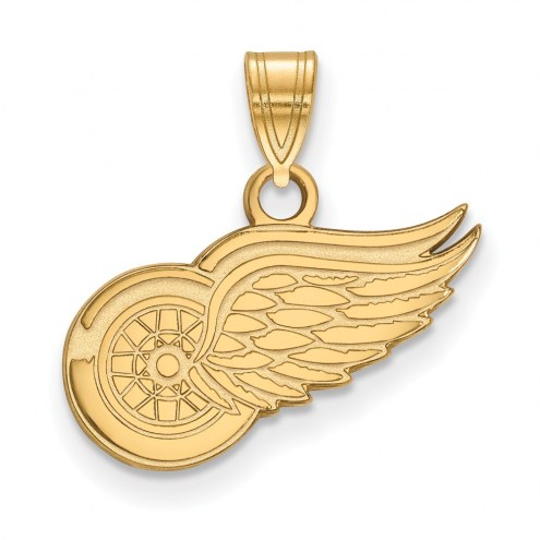 Detroit Red Wings Sterling Silver Gold Plated Small Pendant