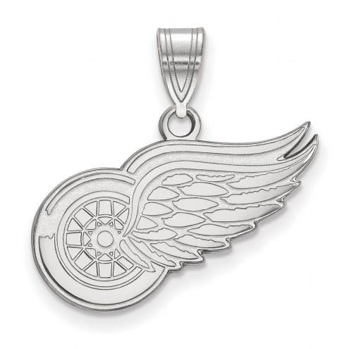 Detroit Red Wings Sterling Silver Medium Pendant