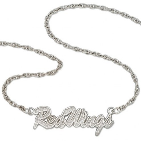 Detroit Red Wings Sterling Silver Script Necklace