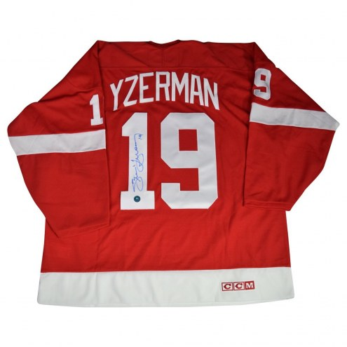 Detroit Red Wings Steve Yzerman Signed Red Jersey
