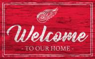 Detroit Red Wings Team Color Welcome Sign