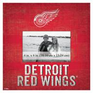 """Detroit Red Wings Team Name 10"""" x 10"""" Picture Frame"""