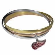 Detroit Red Wings Tri-color Bangle Bracelet