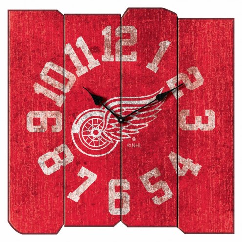Detroit Red Wings Vintage Square Clock